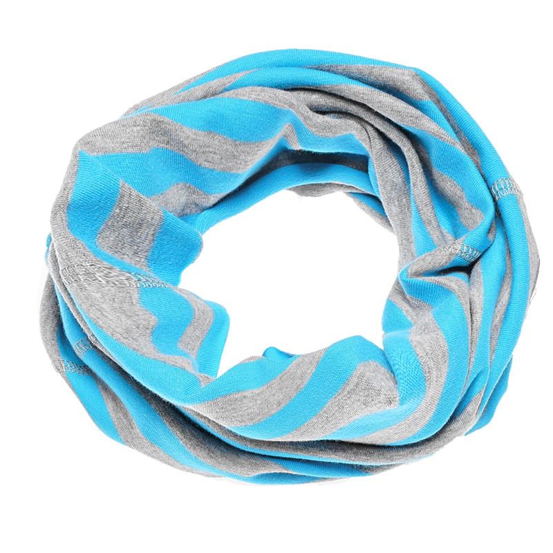Топла шал-яка на райе светло синьо-сиво  100249
