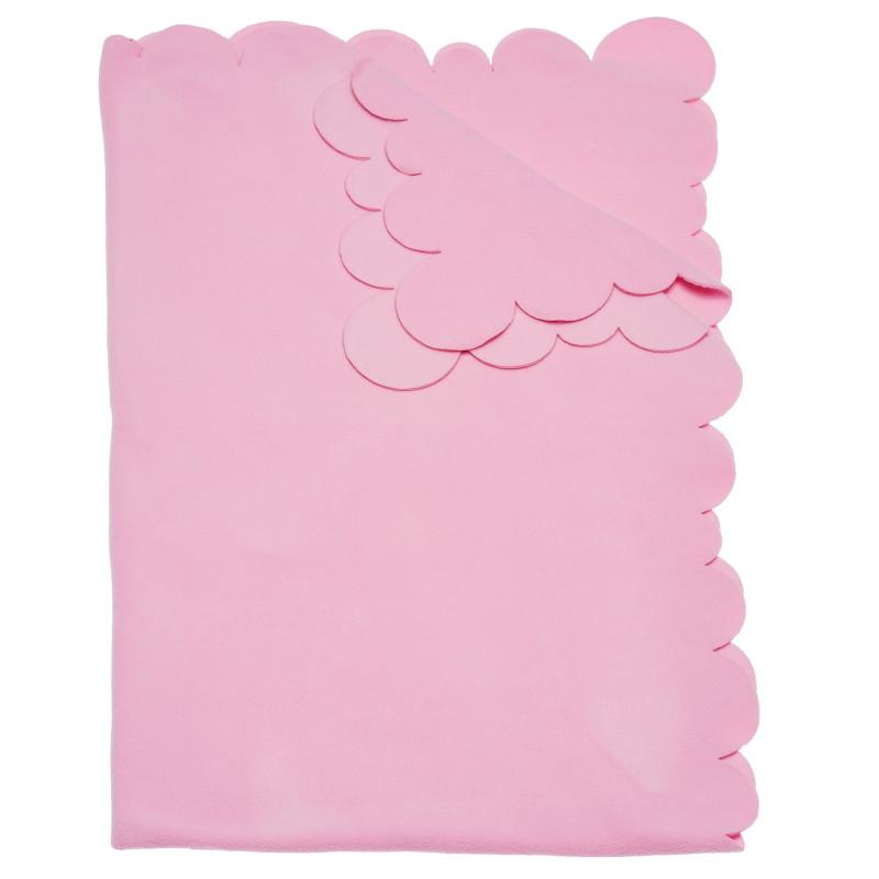 Одеяло за момиче, розово, 95х145 см.  100362