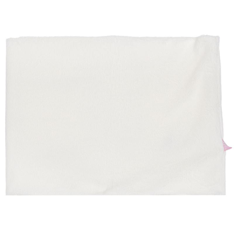 Плюшен шал, бял  100390