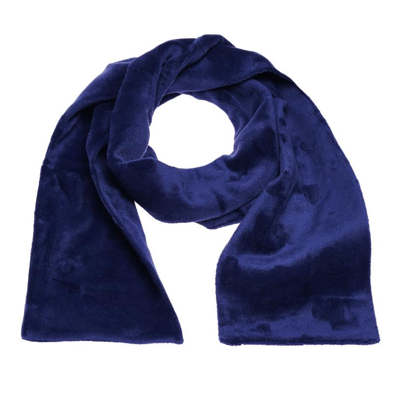 Плюшен тъмносин шал за момче от висококачествена материя  100411