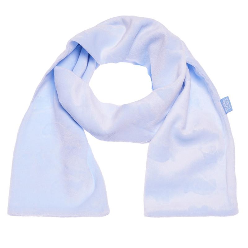 Плюшен шал в приятен син цвят за момче  100414