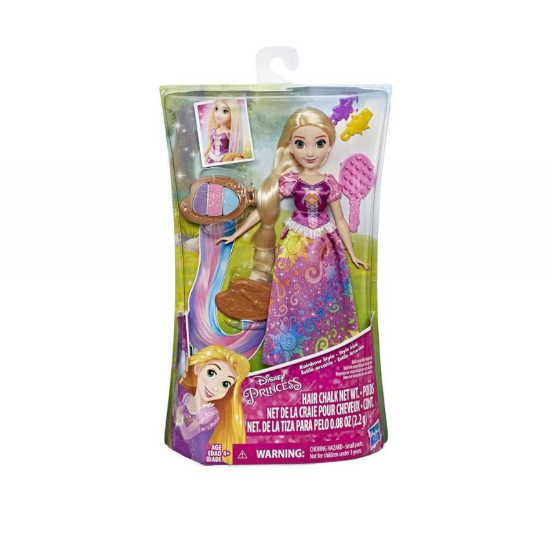 Дисни принцеси - Рапунцел с коса в цветовете на дъгата за момиче  101852