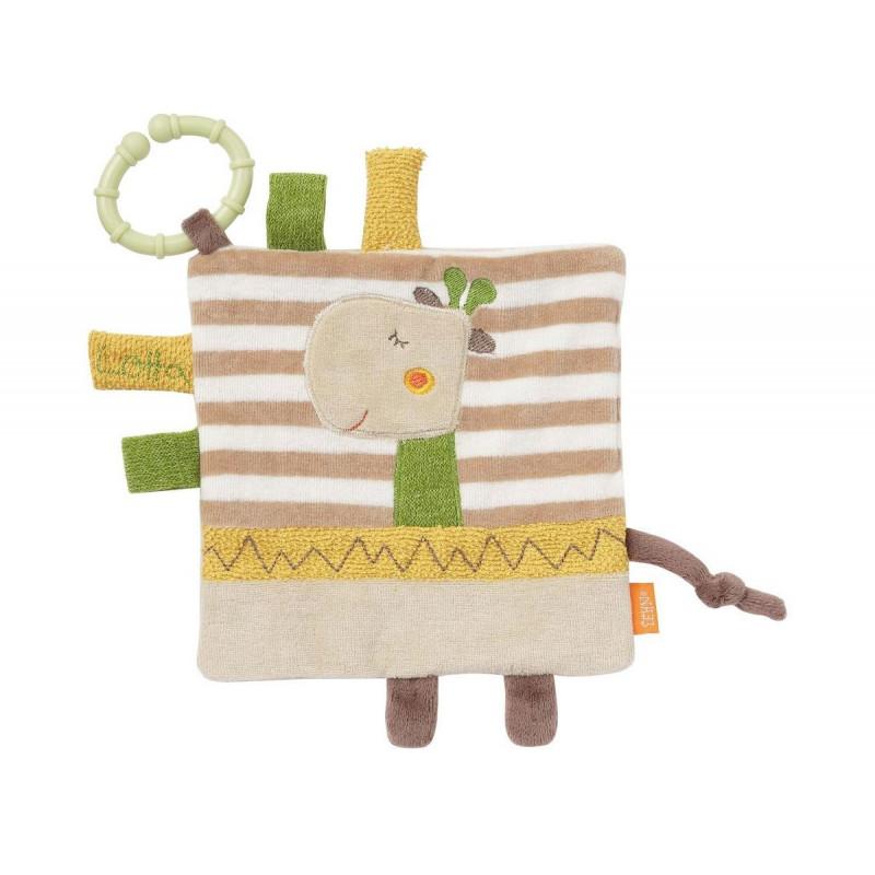 Мека кърпа с ринг жираф  102104