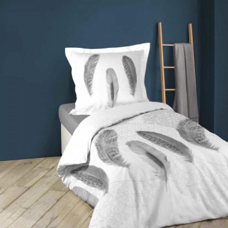 Памучен спален комплект от 2 части с графичен принт, 140х200 см.  102170