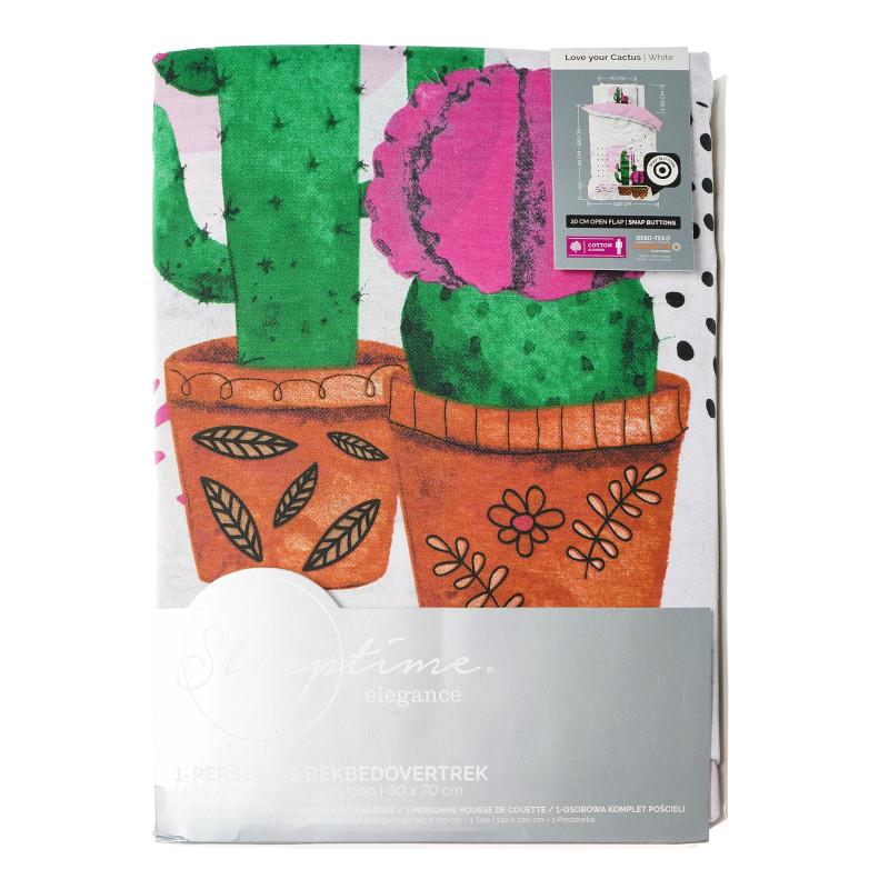 Памучен спален комплект от 2 части Love your Cactus,140х220 см.  102212