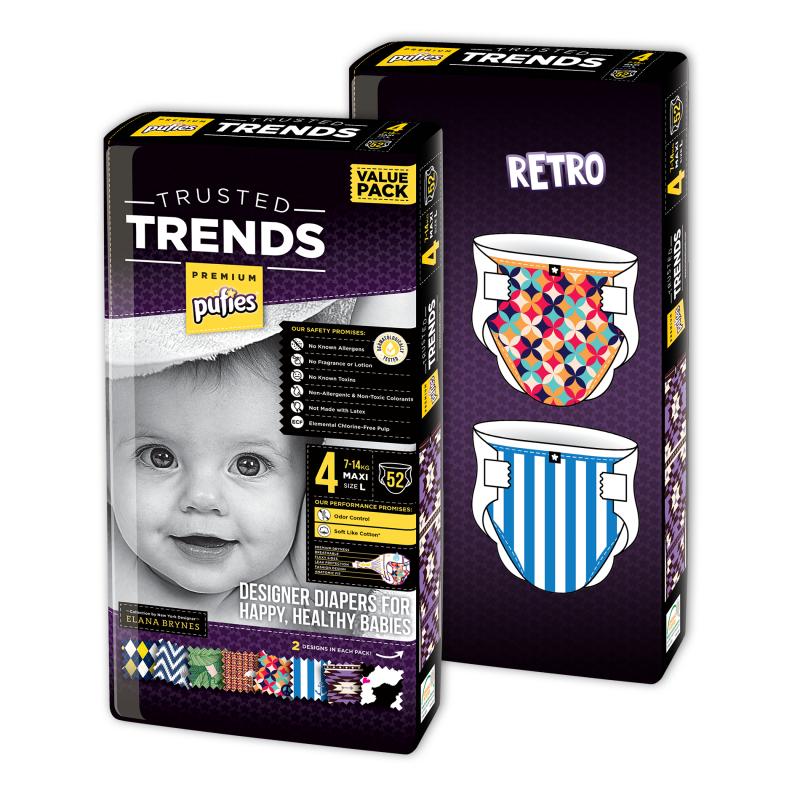 Пелени № 4, 2х52 бр, модел Trends Retro  10228