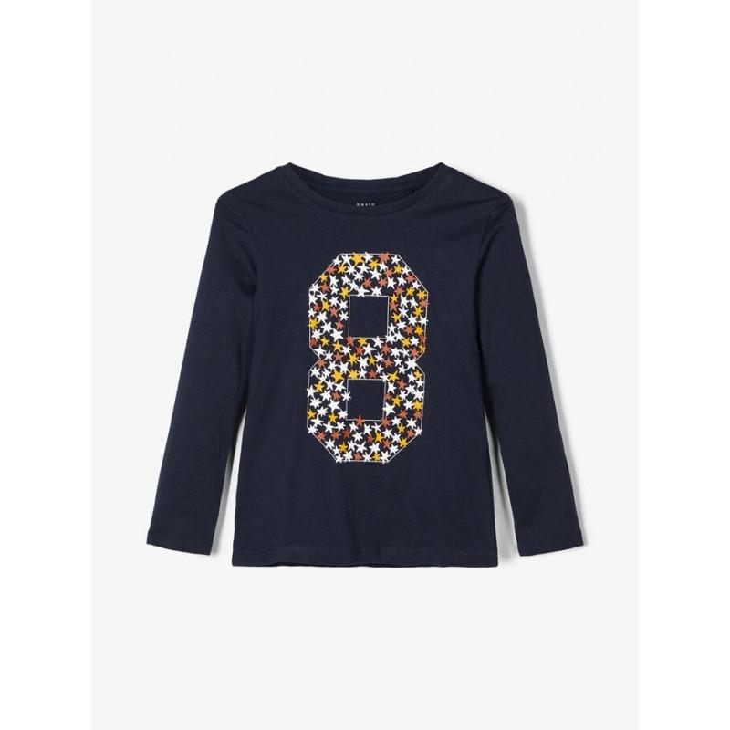 Памучна блуза с дълъг ръкав за момче и щампа 8  102518