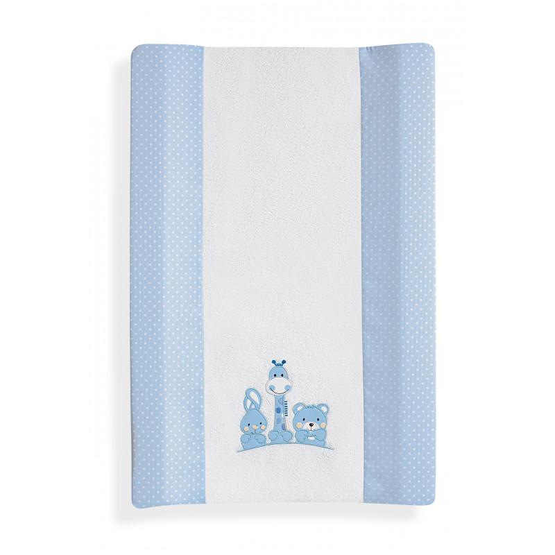 Подложка за преповиване Basic Friend, синя изработен от гъба и деликатна памучна дамаска  102680