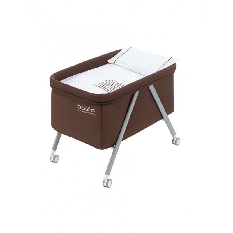 Сгъваемо бебешко легло с алуминиева рамка, кафяво  102705