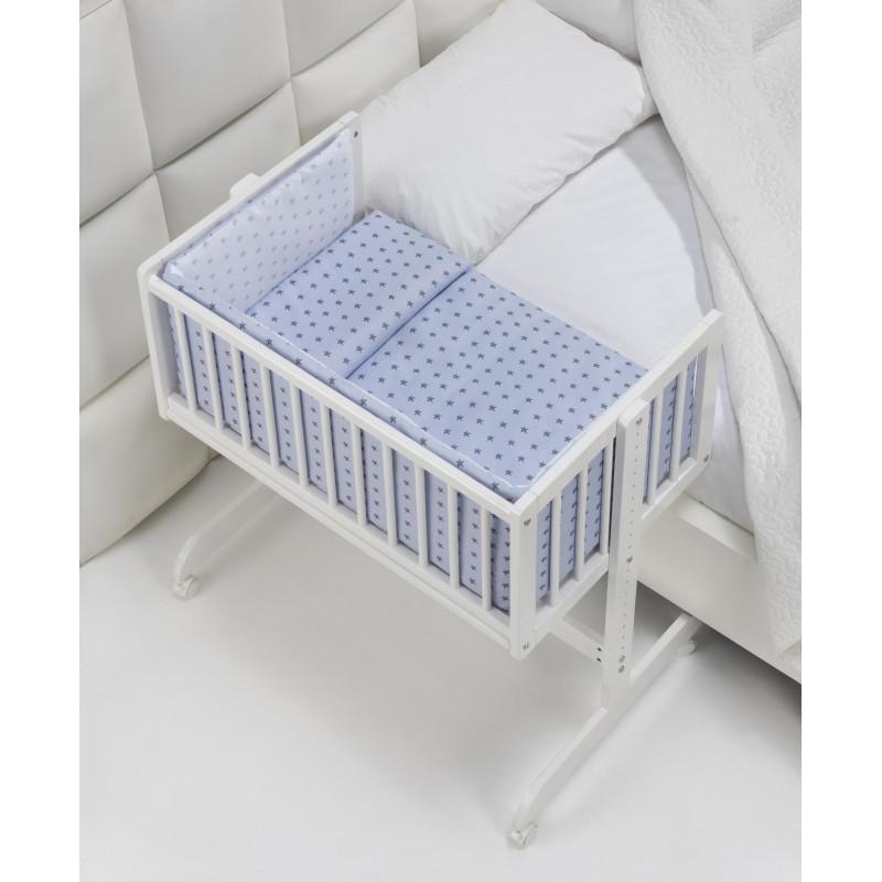 Детско легло тип близо до мен, синьо  102712