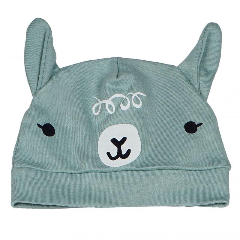 Памучна шапка с ушички за бебе  102862