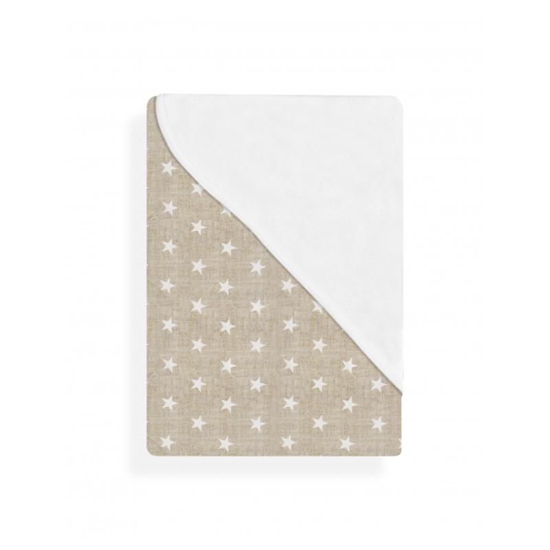 Бебешко одеяло/кърпа на бели звезди-   102916