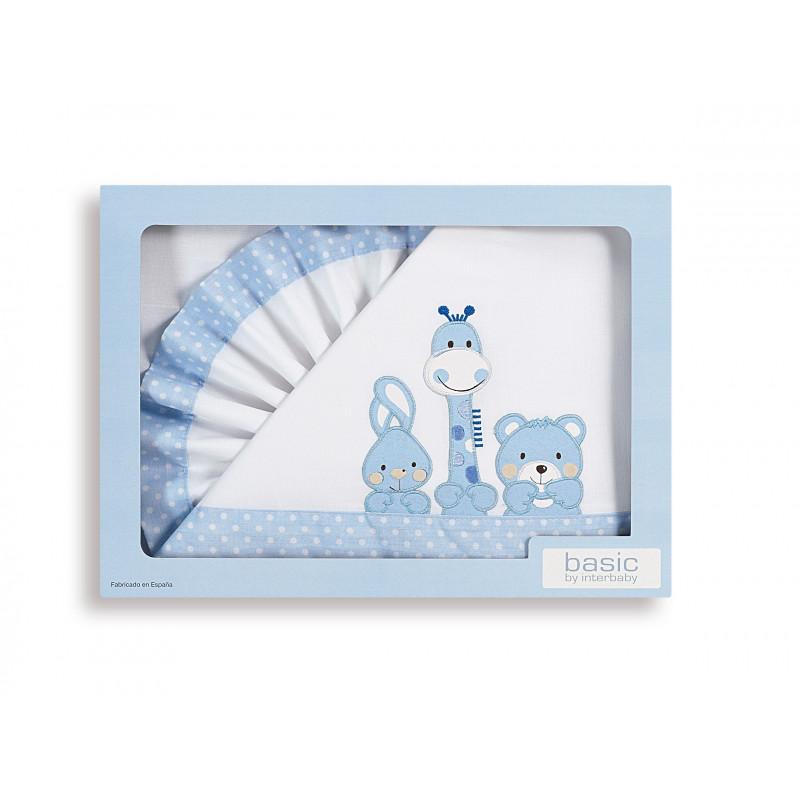 Бял спален комплект 3 части за момче с размери 60x120 изработен от 100% памук  102920