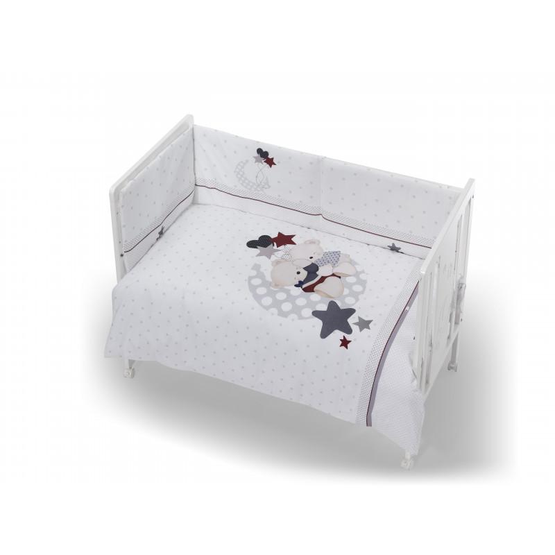 Спален комплект съставен от 3 части, сив, 70х140 см.  102946