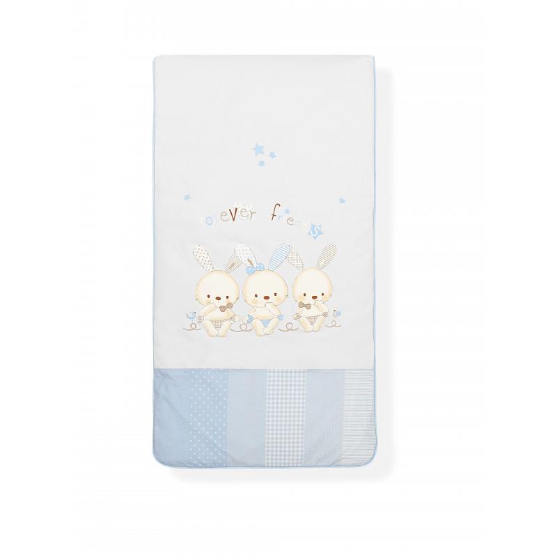 Детско спално бельо от 100 % памук със зайчета, 60х120 см.  102966