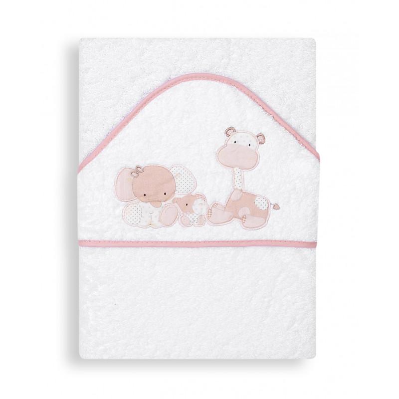 Бебешка хавлия Zoo с розов кант и деликатна материя  103176