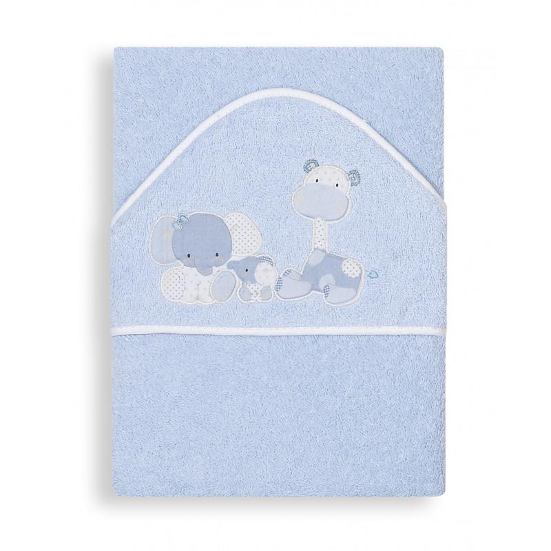 Бебешка хавлия Zoo за момче с животинки и бродерия  103179
