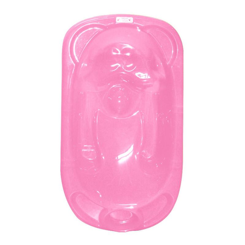Анатомична вана с метална стойка, розова с  две зони за къпане  103200