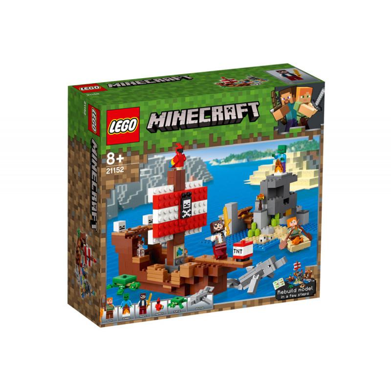Конструктор - Майнкрафт Приключение с пиратски кораб, 386 части  103256