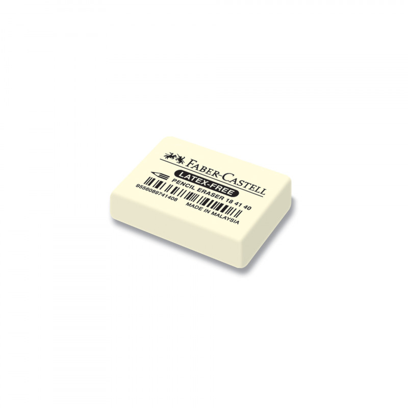 Гума чернографитни и цветни моливи - бяла  103311