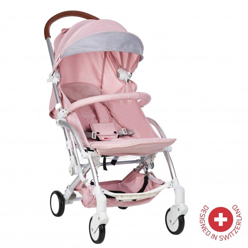 Детска количка FORTUNA с швейцарска конструкция и дизайн, розова  103490