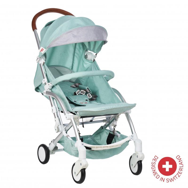 Детска количка FORTUNA с швейцарска конструкция и дизайн, зелена  103491
