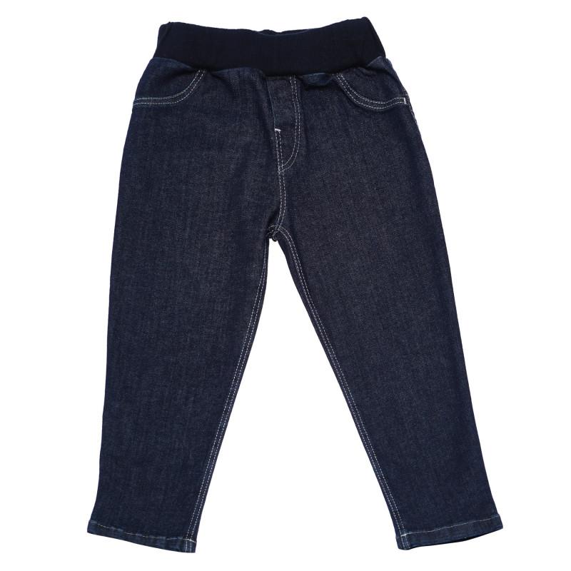 Дънков панталон за бебе с бродирано зайче  103528