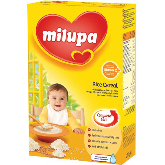 Млечна каша с ориз първи избор, 3-5 месеца, кутия 250 гр. Milupa 10441