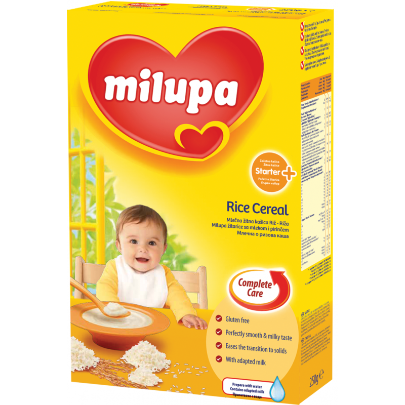 Млечна каша с ориз първи избор, 3-5 месеца, кутия 250 гр.  10441