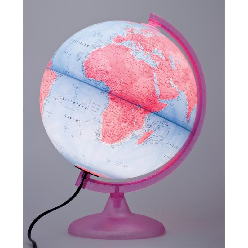Глобус розов свят, 25 см  10462