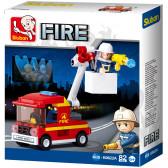 Противопожарна кола с платформа Sluban 10472