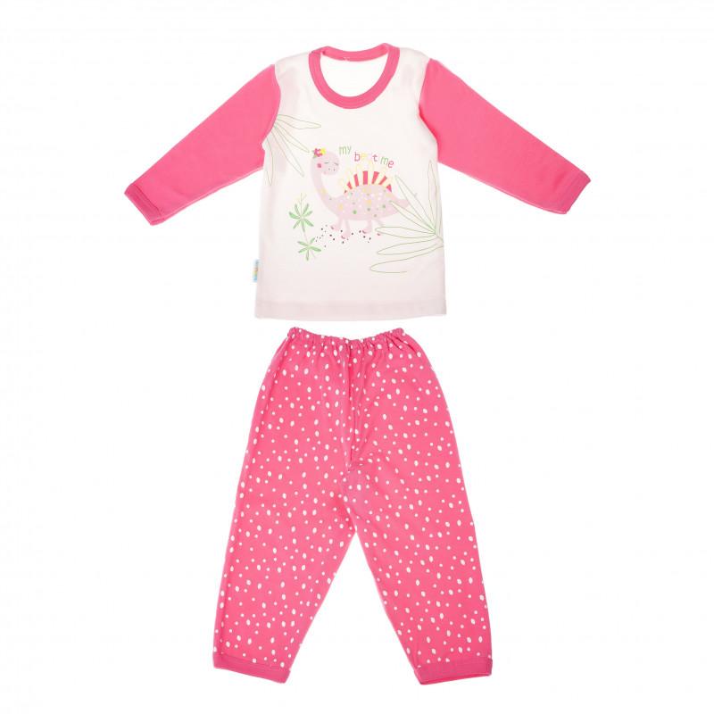 Памучна пижама с красив принт за момиче  104851