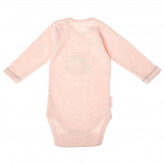 Памучно боди с дълъг ръкав за бебе момиче Ewa Klucze 104950 2