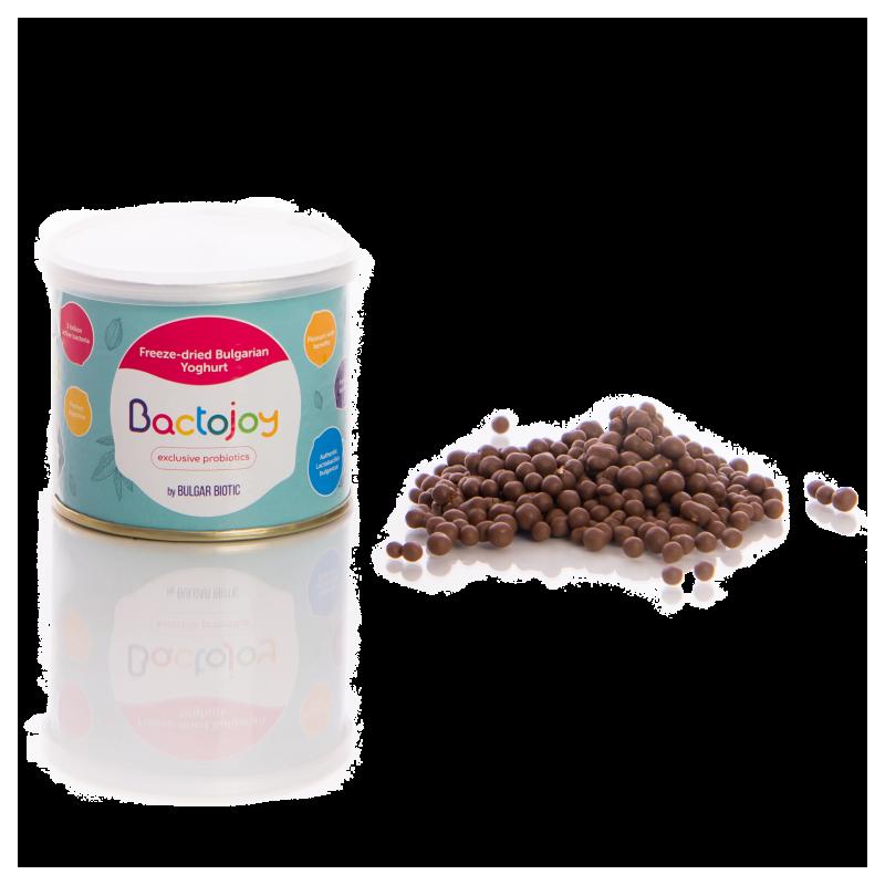 Пробиотични дражета с глазура от млечен шоколад Bactojoy  105737