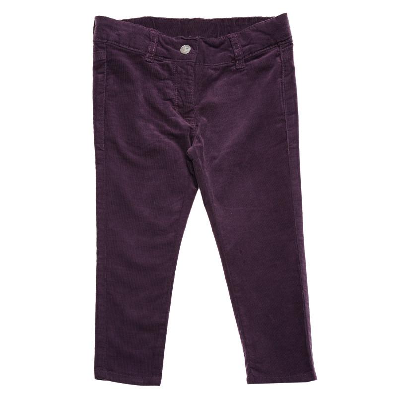 Панталон за момиче с копче на талията  105887