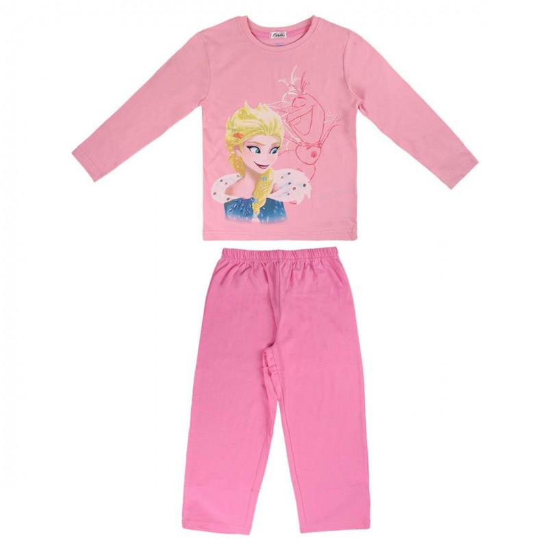 Пижама за момиче с щампа отЗамръзналото Кралство  1062