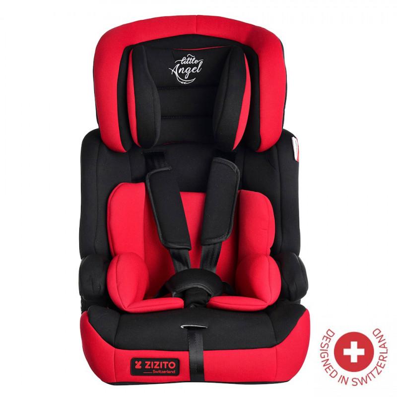 Столче за кола DIONIS, TUV сертификат за безопасност, 5-точков колан, 9-36 кг, червено  106324
