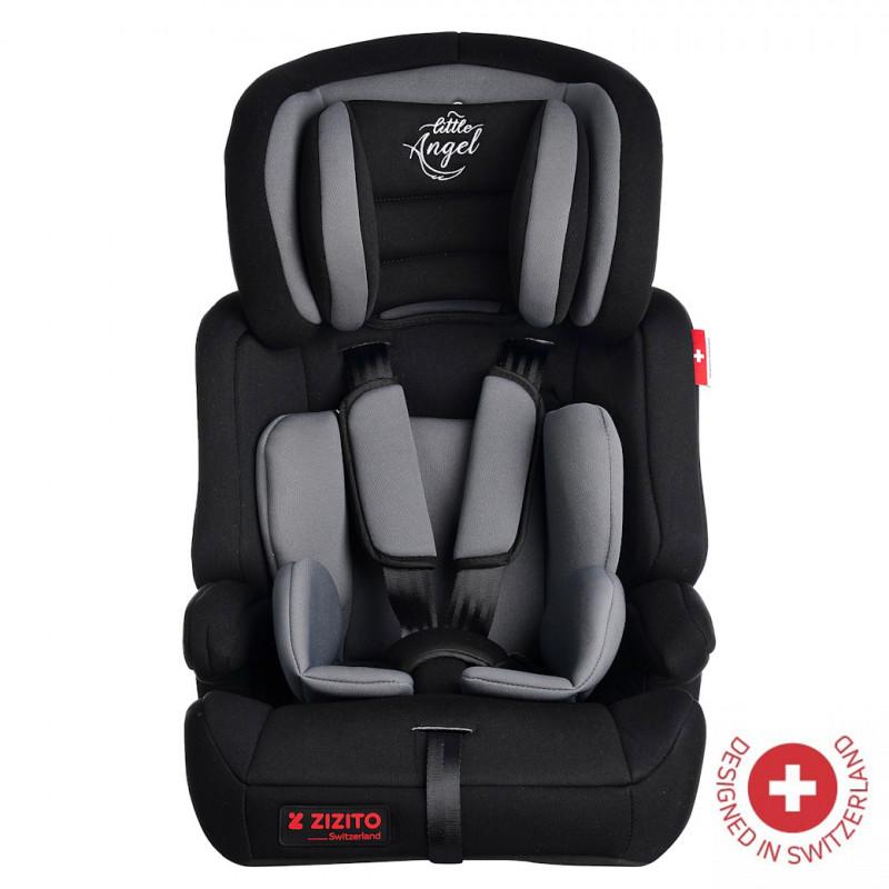 Столче за кола DIONIS, TUV сертификат за безопасност, 5-точков колан, 9-36 кг, сиво  106330