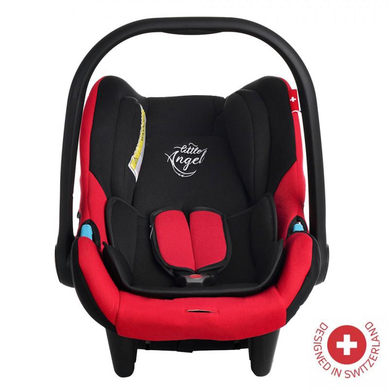 Кошче за кола AVRORA , TUV сертификат за безопасност, 0-13 кг, с подобрена защита, червено  106345