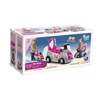 Кола за яздене и бутане- starkids розова Chicos 10643