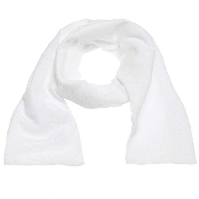 Плюшен шал в бяло за момиче  106727