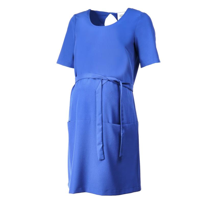 Рокля с къс ръкав за бременни, синя  106968