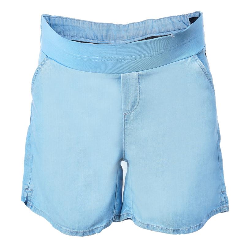 Дънкови къси панталони за бременни, сини  106976