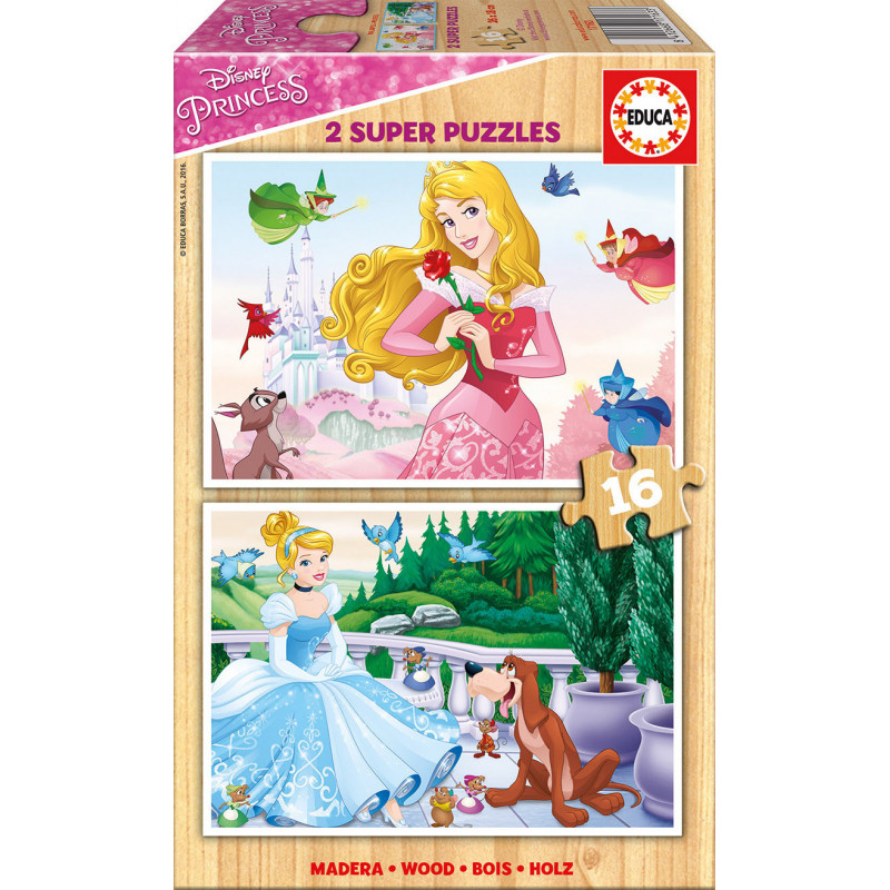 Дървен пъзел 2 в 1- Принцеси на Дисни 16 Части  11127