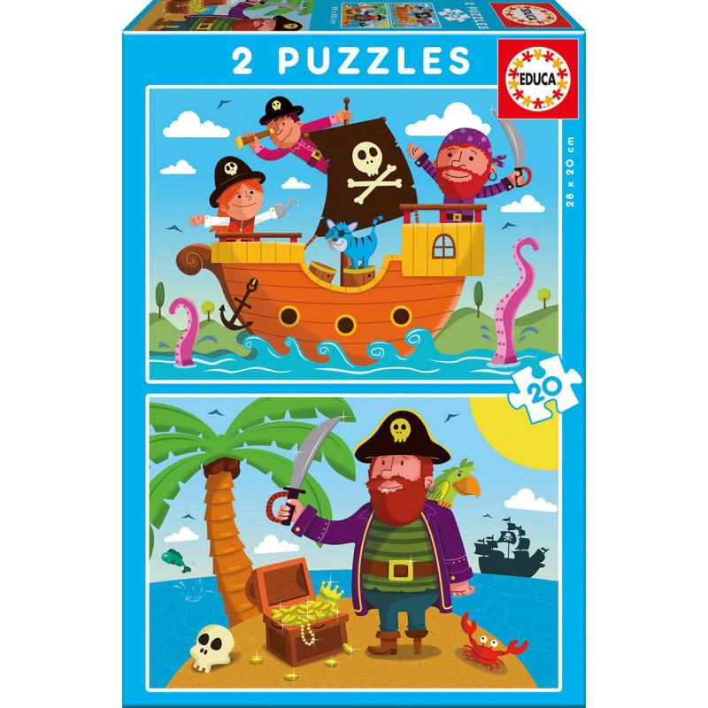 Детски пъзел 2 в 1 Пирати  11154
