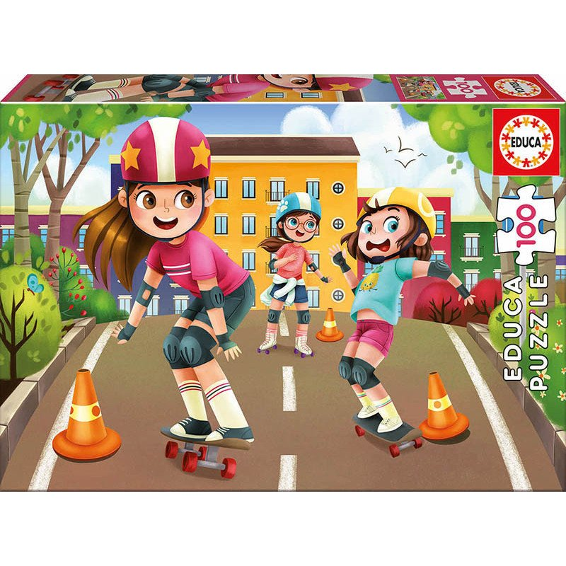Детски пъзел каране на скейтборд  11157