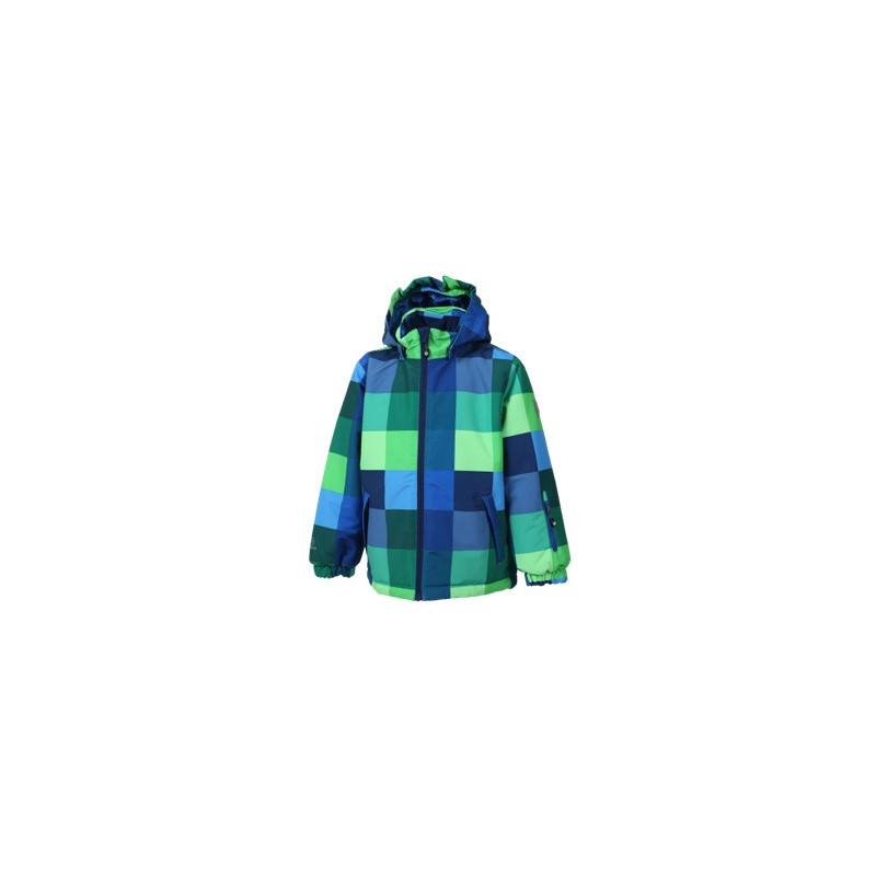 Карирано ски яке синьо зелено  11343
