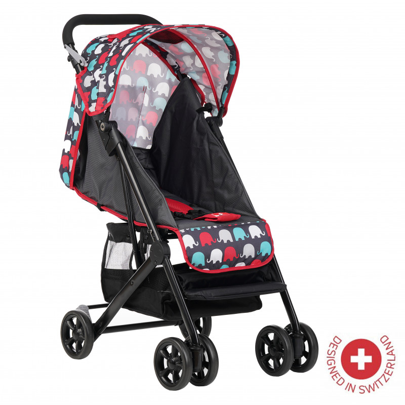 Бебешка количка Jasmin - компактна, лесно сгъваема, червена  113565