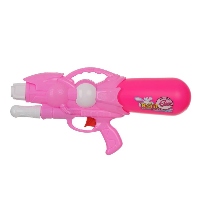 Воден пистолет с помпа, розов - 33 см.  115398