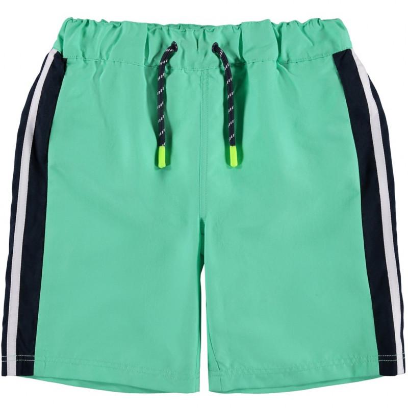 Бански с черни кантове за момче зелен  116454